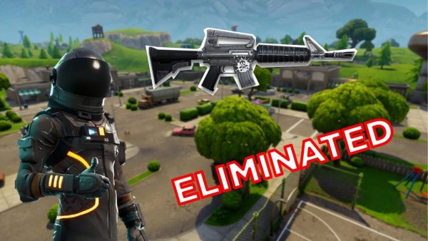 Crutionix's EPIC Elimination with an ASSAULT RIFLE (Fortnite)